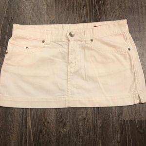 Express White Jean Mini Skirt - Size 10